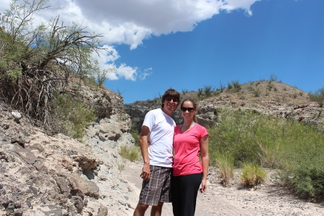 Having a heat stroke in Big Bend National Park