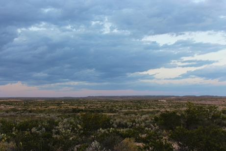 Seminole Canyon- the desert at dusk